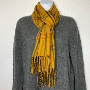 Cejon Accessories - Mustard yellow plaid scarf Made in Italy